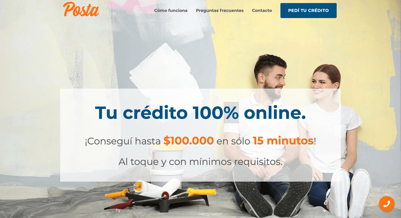 Posta - Crédito de hasta $100 000