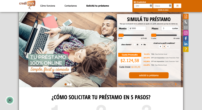 Crediclick - Préstamo de hasta $600 000