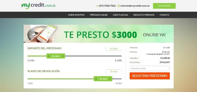 Mycredit - Préstamo de hasta $3 000