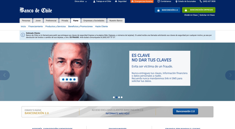 Banco de Chile - Préstamos hasta $120 000 000
