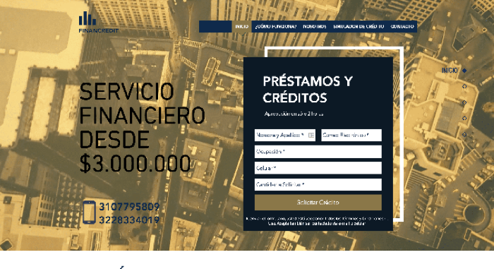 Financredit - Préstamo de hasta $3 000 000