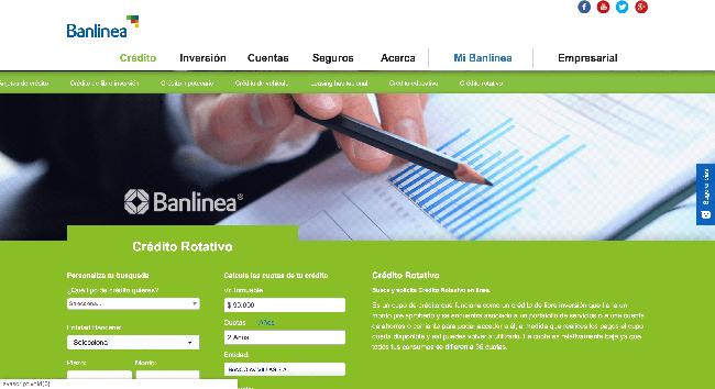 Banlinea - Crédito rotativo de hasta $10 000 000