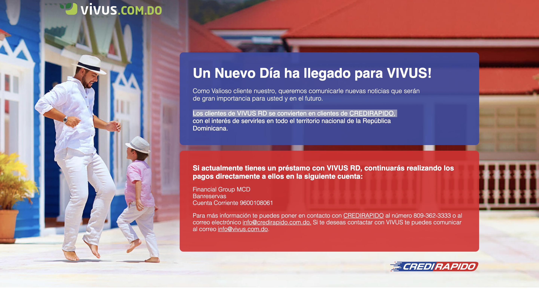 Vivus – Préstamo de hasta RD$15 000