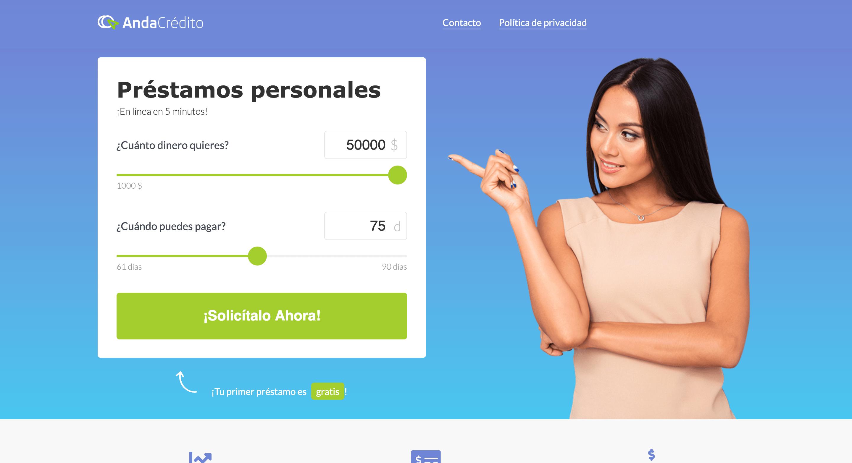 AndaCrédito - Créditos hasta $50 000