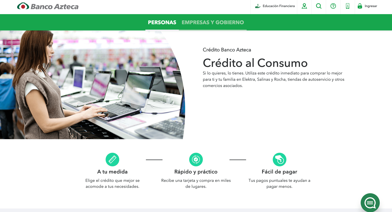Banco Azteca - Créditos hasta $100 000