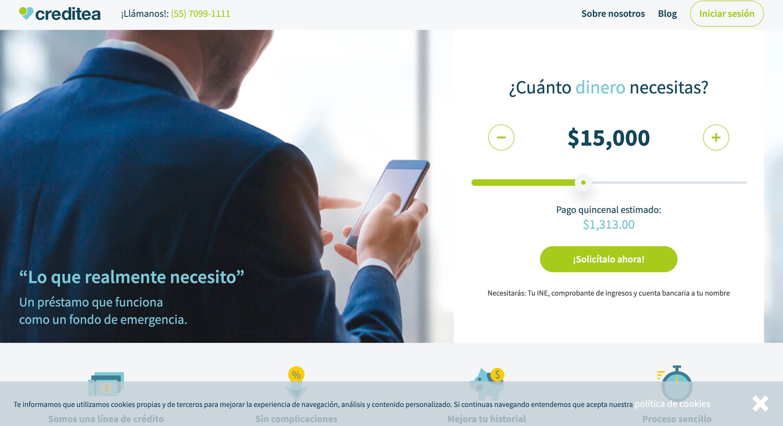 Creditea - Préstamo de hasta $70 000