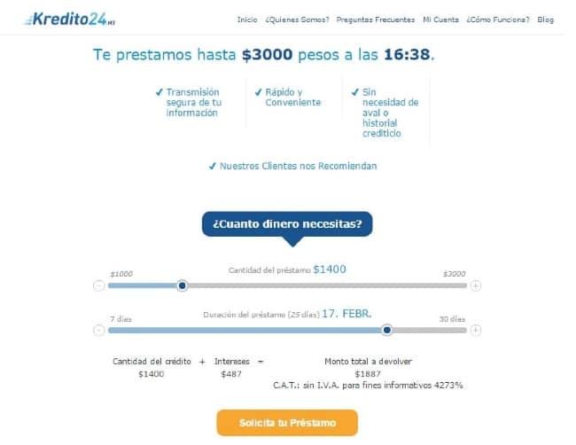 Kredito24 - Préstamo de hasta $3 000