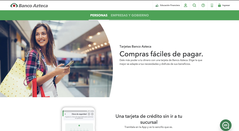 Banco Azteca tarjeta