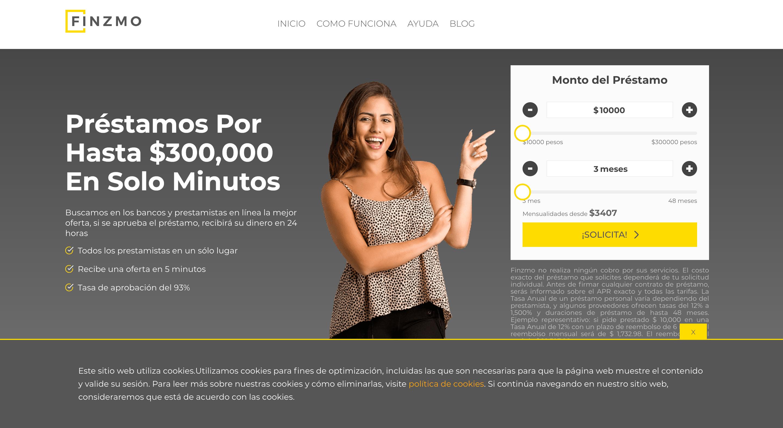 Finzmo - Préstamos hasta $300 000