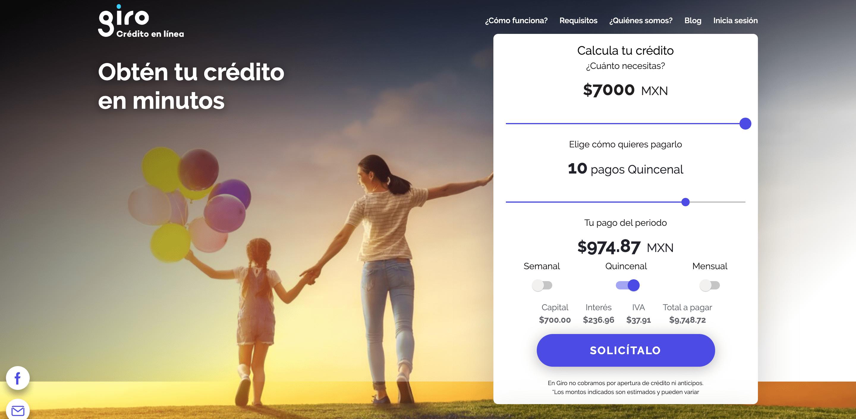 Giro - Préstamos hasta $7 000