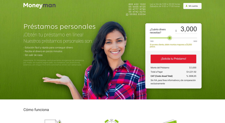 MoneyMan - Préstamos hasta $30 000