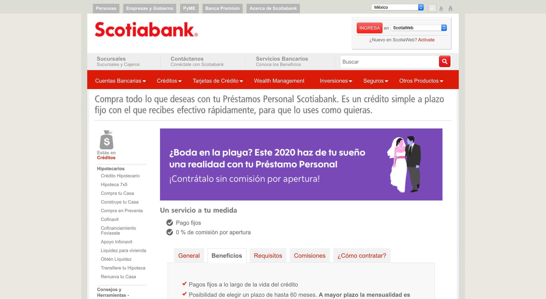 Scotiabank - Créditos hasta $500 000