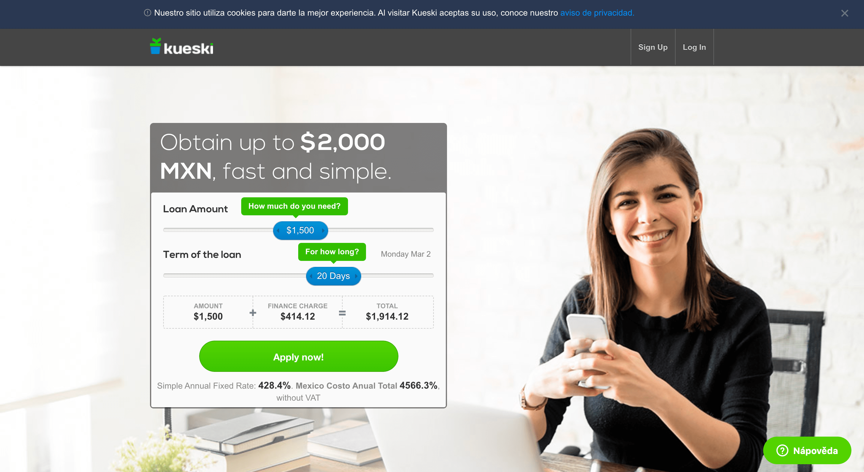 Kueski – Préstamo de hasta $2 000