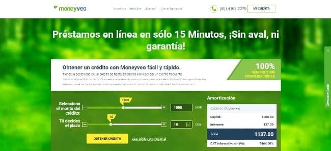 Moneyveo - Préstamo de hasta $2 000