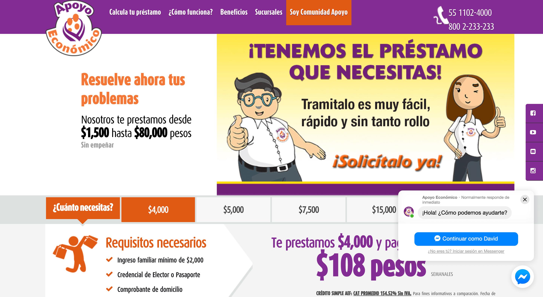 Apoyo Económico - Créditos hasta $80 000