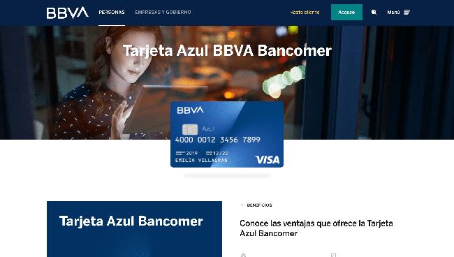 BBVA Bancomer tarjeta