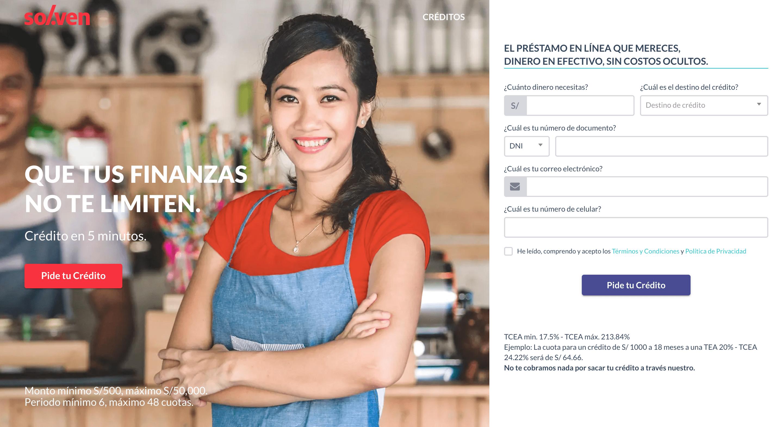 Solven - Préstamo de hasta S/30 000