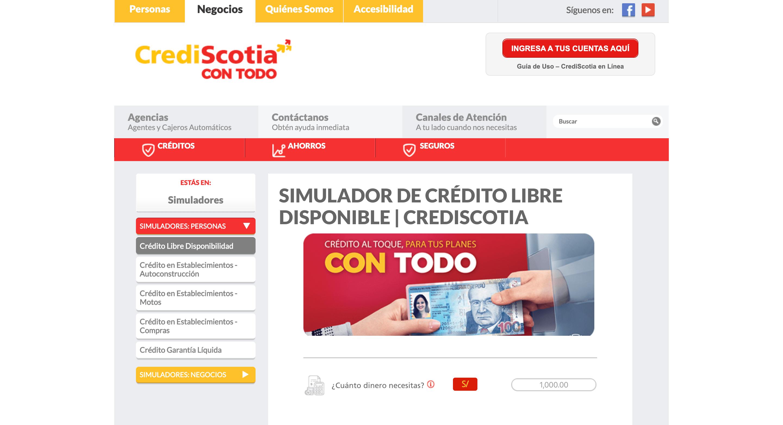 CrediScotia – Préstamo de hasta S/30 000