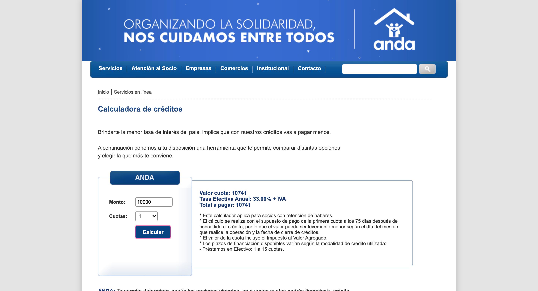 ANDA - Préstamo de hasta $100 000