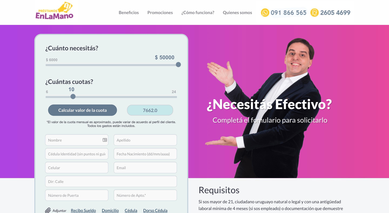 EnLaMano - Préstamo de hasta $50 000