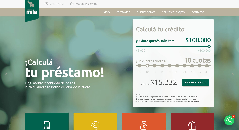 MILA - Préstamo de hasta $100 000